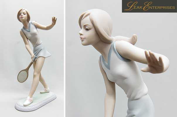 lladro 1427 matte female tennis player for sale