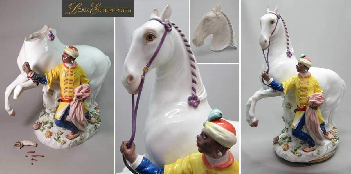 meissen blackamoor restoration